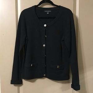 Banana Republic Black Sweater with Silver Buttons